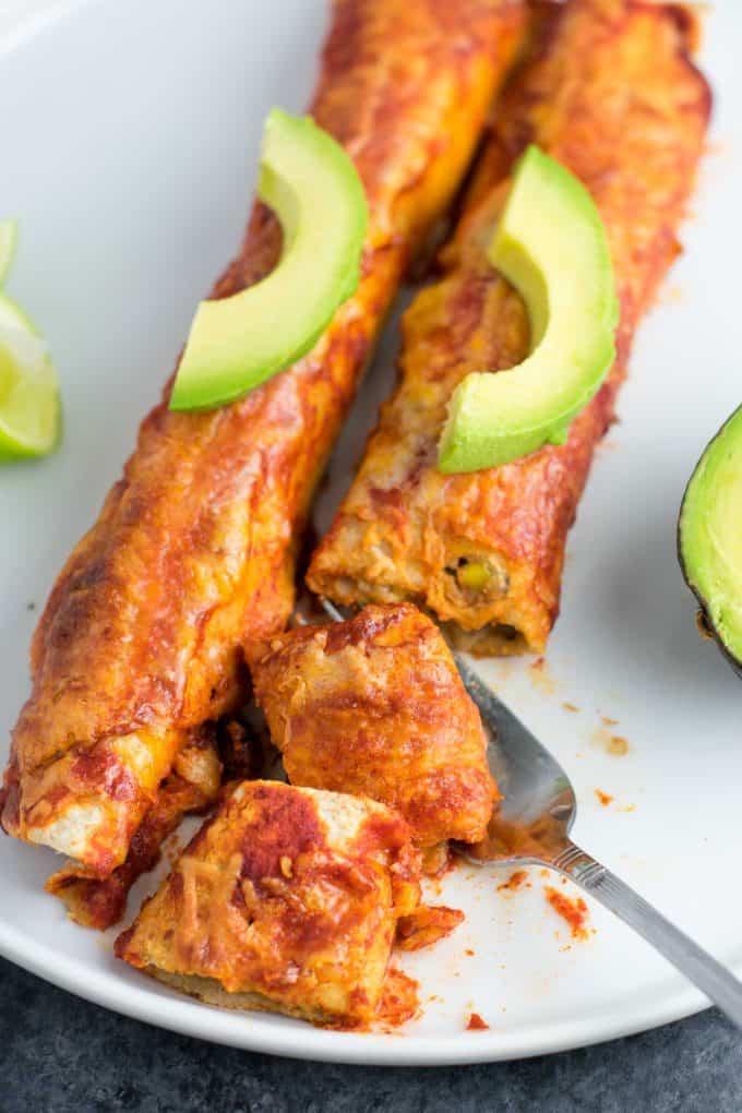 veggie enchiladas summer food