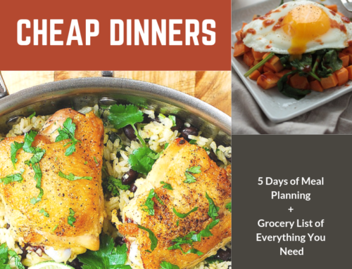 Meal Plan: Healthy & Cheap Dinners