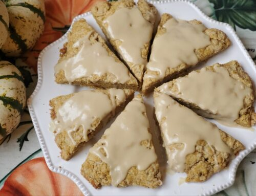 Healthy Pumpkin Scones with Maple Glaze